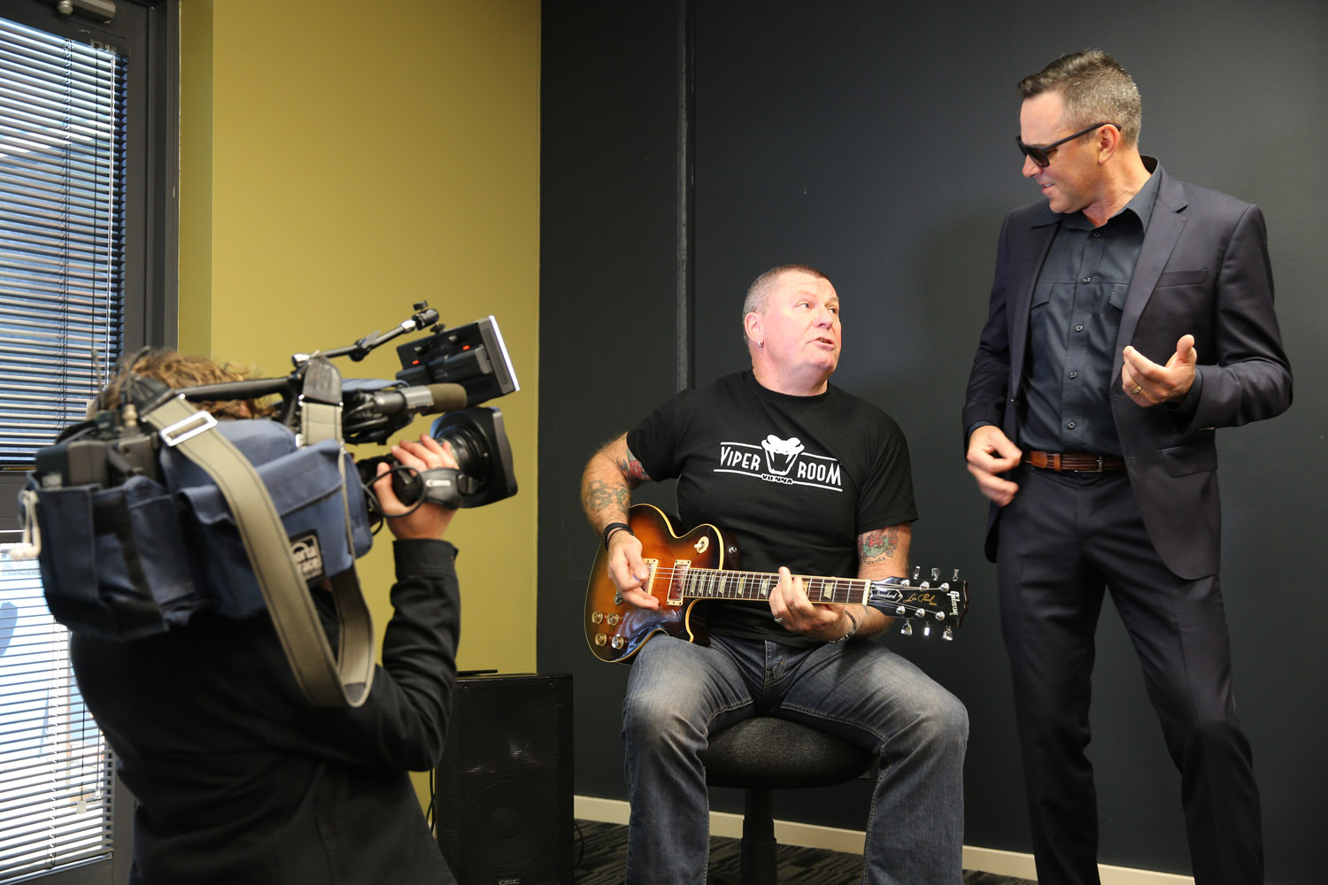 Ash Bosworth with Dai Pritchard (Rose Tattoo) for NBN News