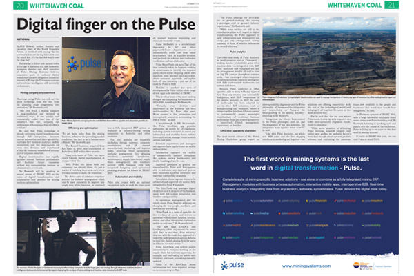 Pulse in Australian Mining Review - October 2019