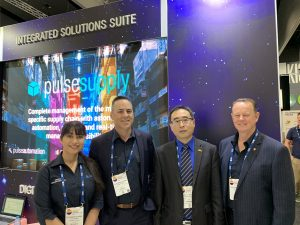 Pulse team members at IMARC 2019 with Mr William Wang, representing the Government of Saskatchewan, Canada.