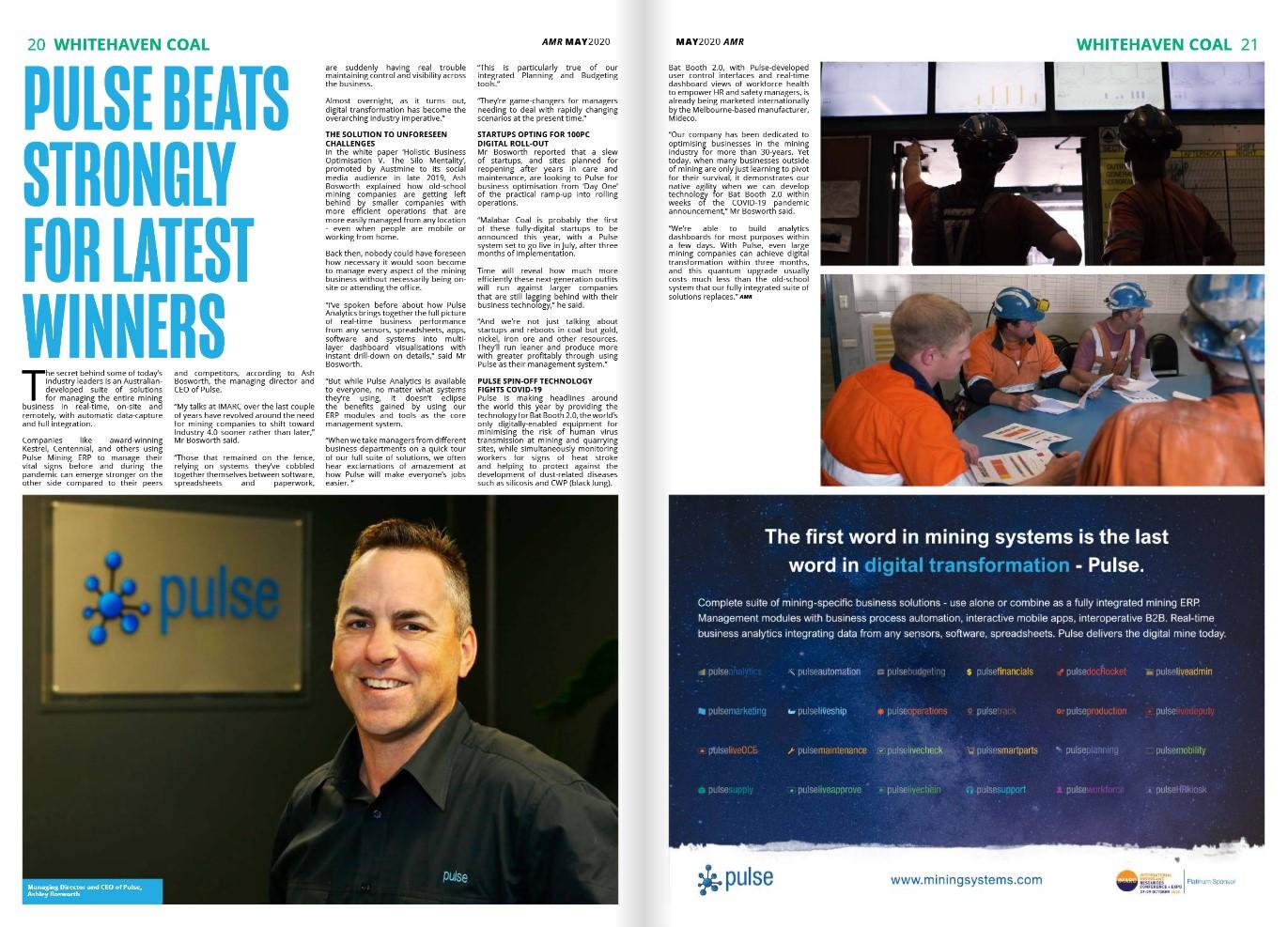 Pulse Mining Systems - Australian Mining Review - May 2020